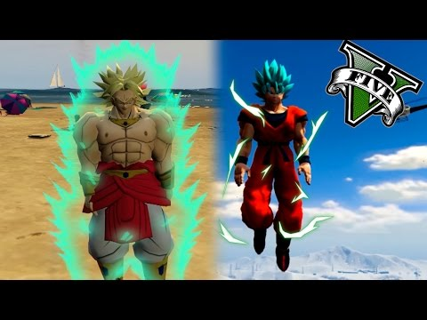 GOKU VS BROLY LA BATALLA LEGENDARIA! | GTA 5 PC MOD DRAGON BALL