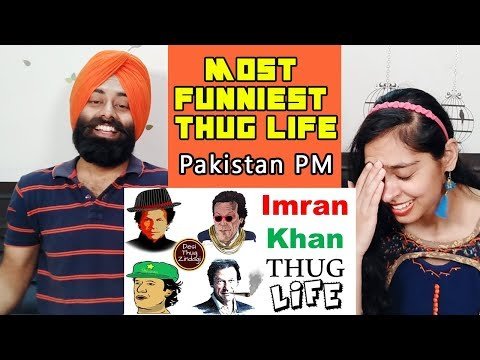 Indian Reaction on Pakistani PM Imran Khan Thug Life Compilation ft. PunjabiReel TV