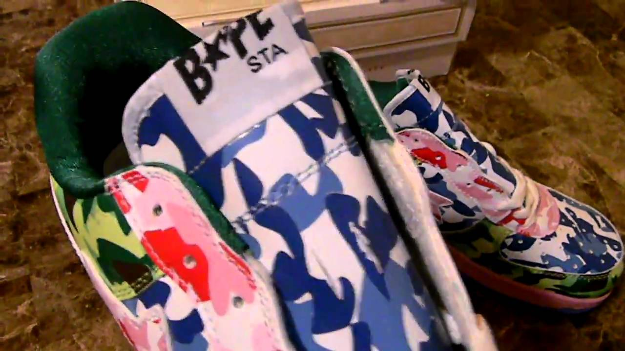 BAPESTA   BAPE SHOE    100   FREESHIPPING - YouTube 6b882f3a3