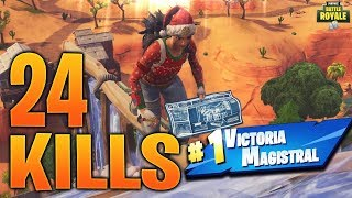 The Best Player from Argentina On Console?-24 Kills Christmas Skin-PS4 Fortnite
