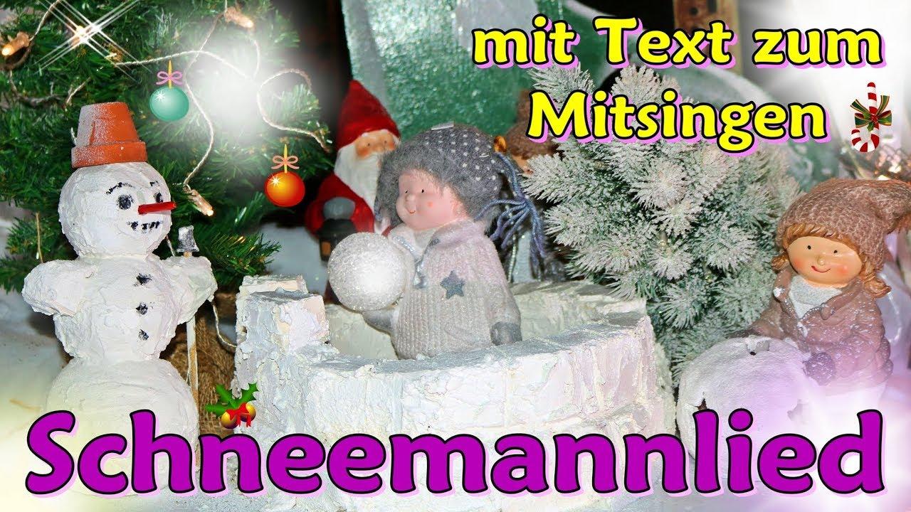 Kinderlied über den Schneemann, schönes Schneemann Lied zum ...