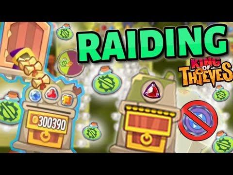 Raiding Bases with Potions & Disabled Traps - King of Thieves Stealing Big Gems