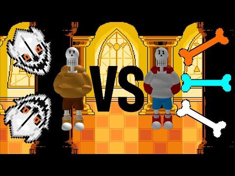 TS-Swap Papyrus VS Underswap Papyrus (Reset 3 Characters)