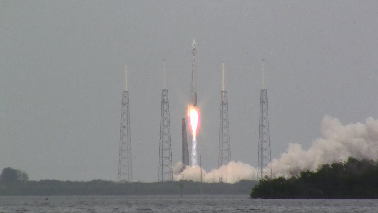 Launch of NASA's MAVEN satellite aboard an Atlas V - YouTube