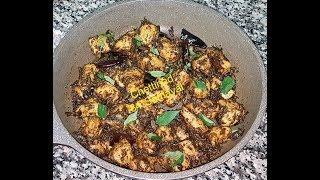 Curry Leaf Chicken CurryKaruveppilai Chicken Varuval -Recipeகறவபபல சககன வறவல