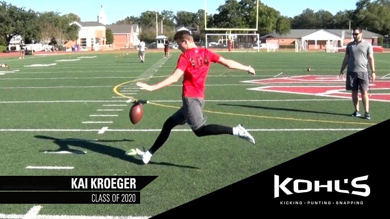 f8ed3837bb 2 Ranked Punter in America | Kai Kroeger | Kohl's Kicking Camps ...