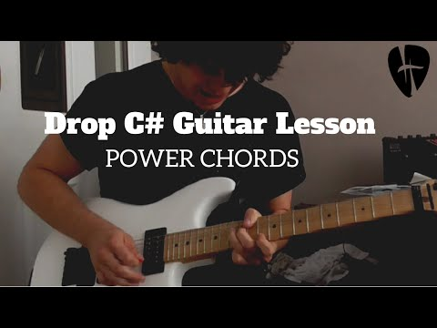How to Play Powerchords in Drop Tuning Guitar Lesson (Drop C#)
