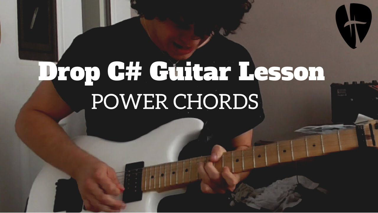 How To Play Powerchords In Drop Tuning Guitar Lesson Drop C Youtube