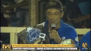 Júnior latercio campeão do CPV.... falou tudo... simplesmente a cobra o papa carro