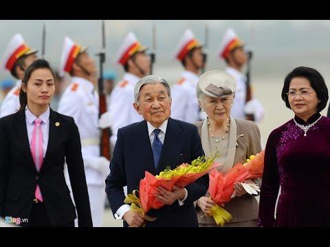 Trực tiếp lễ đón tiếp nhật Hoàng Akihito và hoàng hậu Michiko tại phủ chủ tịch
