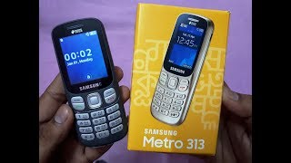 Samsung Metro 313 | Unboxing 13 August 2019 | Gray color