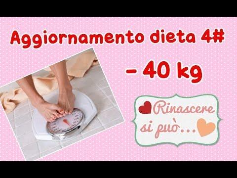 Aggiornamento dieta 4# ho perso 40kg!
