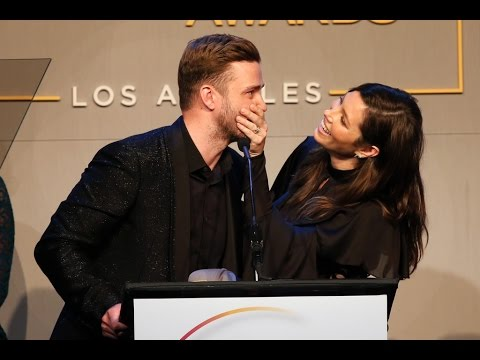 Jessica Biel and Justin Timberlake Accept the GLSEN Inspiration Award