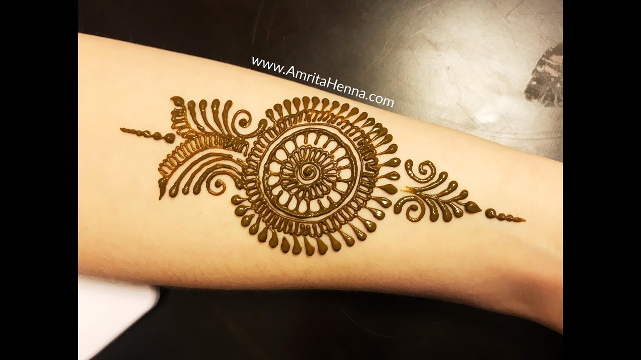 STEP BY STEP ARM HENNA TATTOO MEHNDI DESIGN