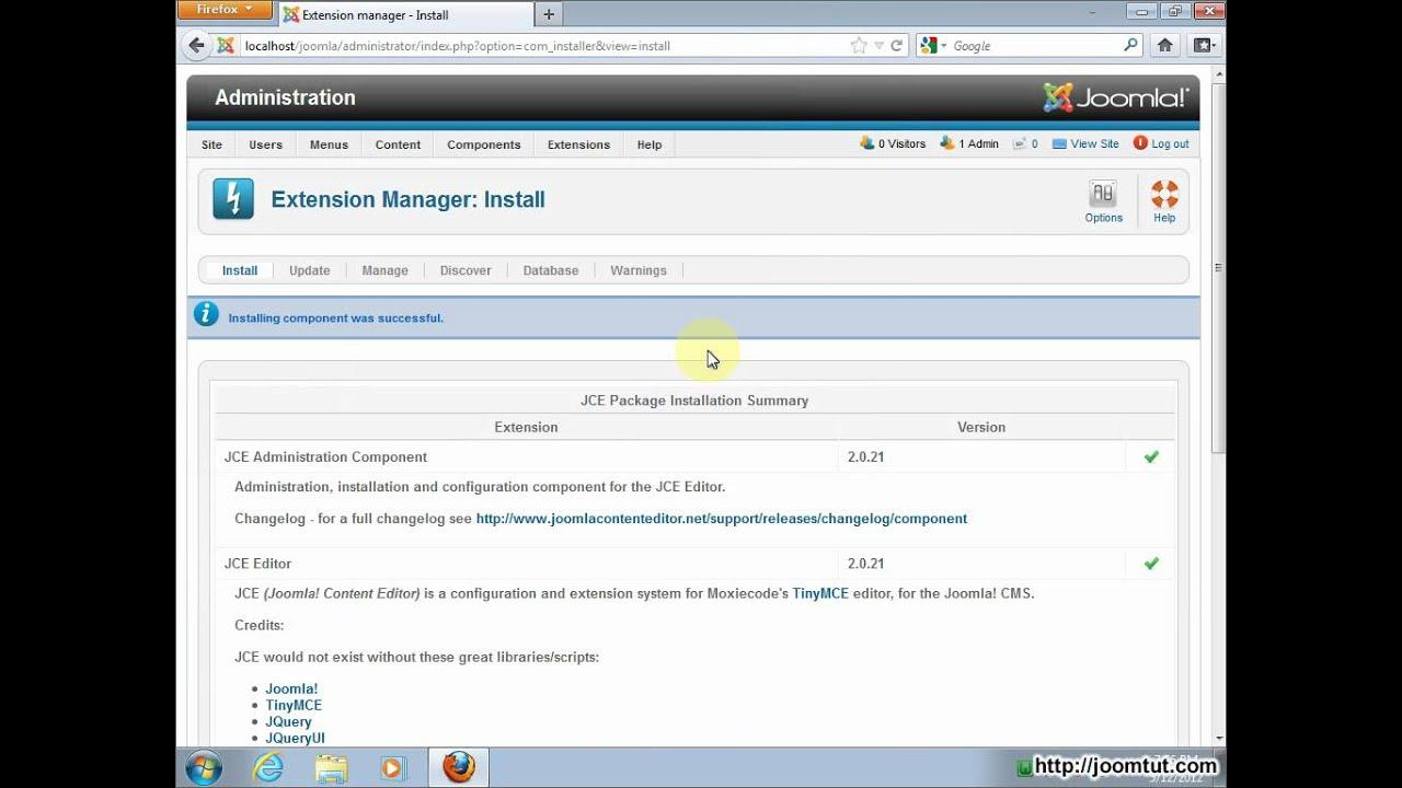 joomla 2.5 jce editor