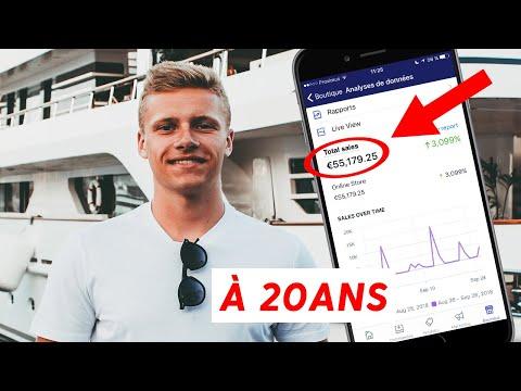 50'000€ EN 30 JOURS À 20 ANS SUR SHOPIFY  DROPSHIPPING