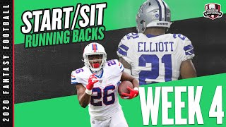 2020 Fantasy Football Advice - Week 4 Running Backs - Start or Sit? Every Match Up