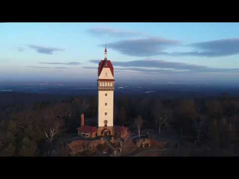 Heublein Tower in Simsbury Connecticut by drone.