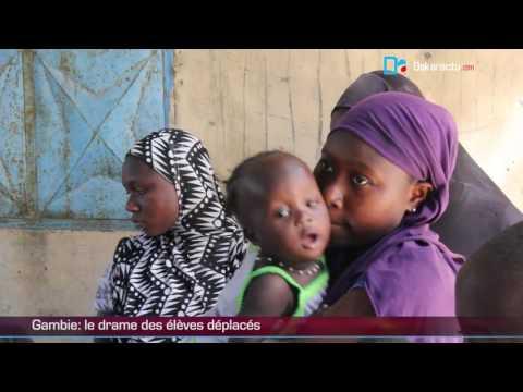 Gambie se vide de sa population: le calvaire des déplacés