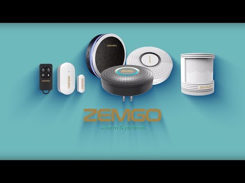 Zemgo Wifi Home Alarm Works With Alexa Install and Pairing