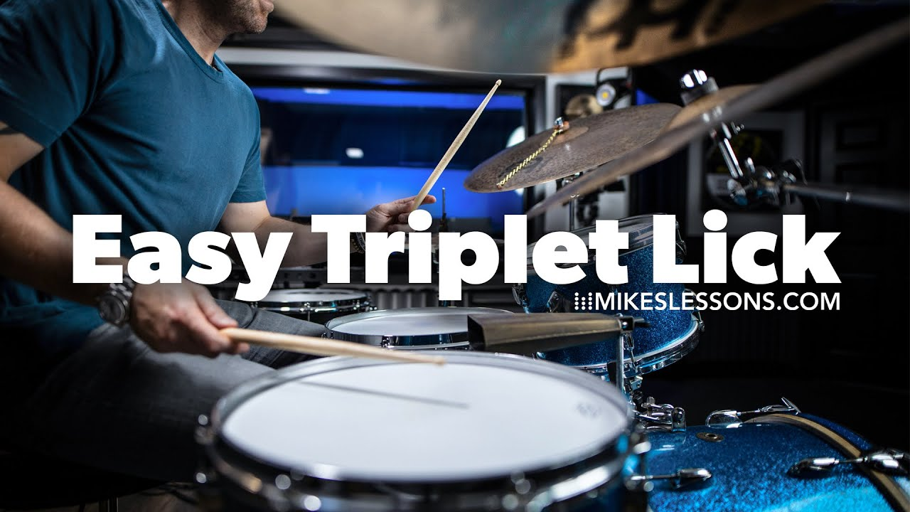 (37) Easy Triplet Lick - Drum Lesson | MikesLessons - YouTube