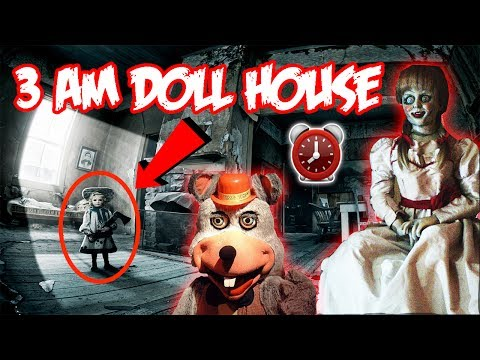 (HAUNTED MOVING DOLL) 3 AM OVERNIGHT AT HAUNTED DOLL HOUSE (CREEPY CHUCK E CHEESE DOLL FOUND)