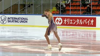 Анастасия Зинина Короткая программа Девушки Линц Гран при по фигурному катанию 2021 22