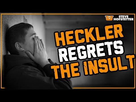 Heckler tries to insult Steve Hofstetter