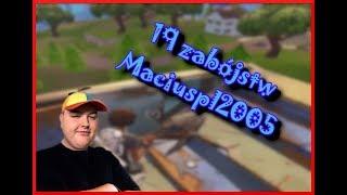 19 zabójstw MaciusPL2005 squady z Zonym, Lilqkim, Taczeqiem | FORTNITE