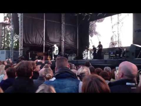 Bryan Adams playing in Augustenborg, Denmark on the 25th of May 2013.