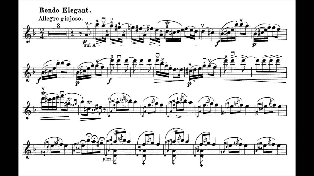 Wieniawski Henryk Romance Sans Paroles Et Rondo Elegant Op 9 For