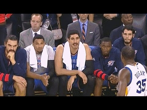Oklahoma City Thunder Bench Talks Sh*t To Kevin Durant