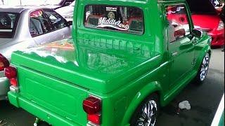 Modifikasi Suzuki Katana jadi Mobil Pick Up TERKEREN ( Modif Velg, Cat, Jok dll )