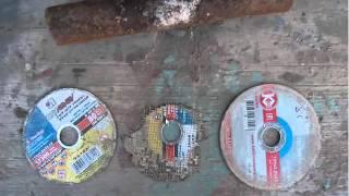 отрезные круги по металлу ЛУГА абразив(luga) ОТЗЫВ ТЕСТ(приобрел отрезные круги по металлу