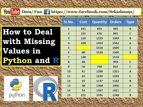 Data Cleaning 1:-How to deal with missing values in Python and R|missing value handling in R|Python