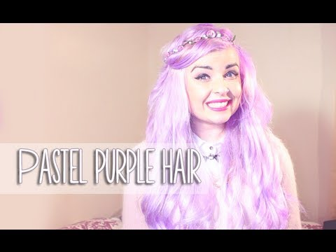 how to dye your hair pastel lilac lavendar violet youtube