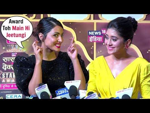 Hina Khan And Shivangi Joshi Interview Together At News18 Stardom Awards 2019