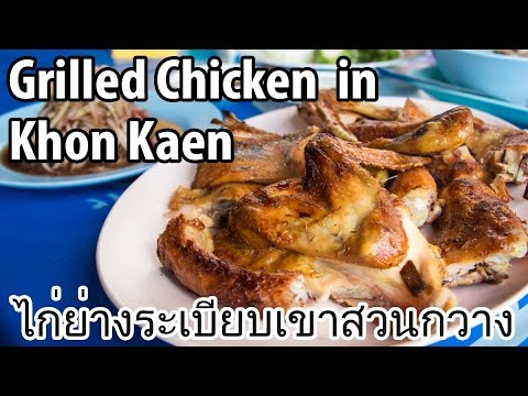 Incredible Grilled Chicken in Khon Kaen, Thailand (ไก่ย่างระเบียบเขาสวนกวาง)