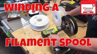 Winding a 3D Printing Filament Spool with Junk Drawer Parts
