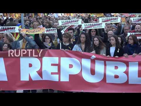 Spain: Barcelonans cry out against imprisonment of Catalan politicians