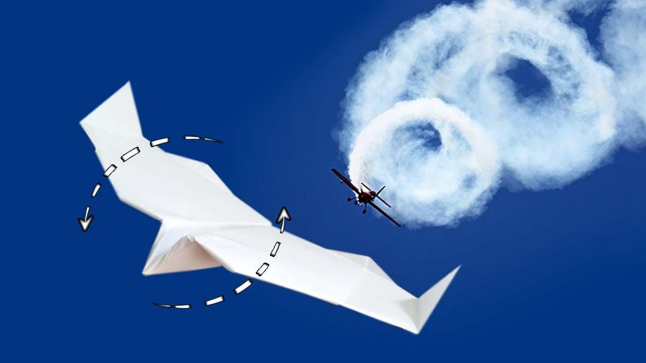 Cách gấp máy bay giấy xoay trên không, nhào lộn và quay trở lại | Tumbling paper Airplane