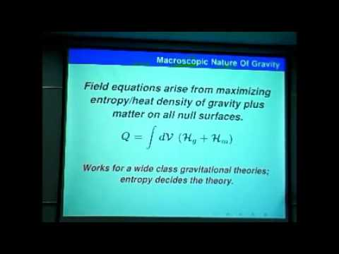 Gravitation lecture - The atoms of space and the nature of gravity