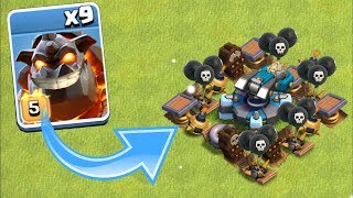 "NEW SCATTERSHOT vs ALL HOUNDS!!  ""Clash Of Clans"" NEW WEAPON!"