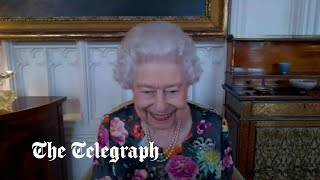 video: Watch: The Queen holds virtual audience to present poetry award