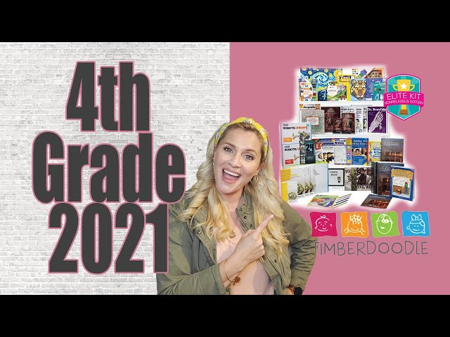 4TH GRADE 2021 | Timberdoodle Non-Religious Curriculum Kit | 2021-2022 Homeschool Year | Secular