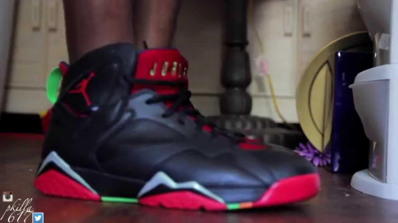 e8013a6a29f0a4 YouTube  Air Jordan 7 Marvin The Martian VS Barcelona Night Shoe Battle  PickOne With DjDelz ...
