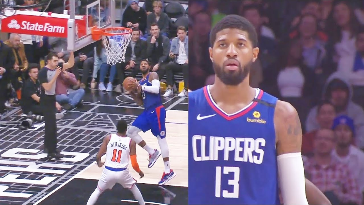 Paul George Unreal Behind The Backboard Shot & Clippers Comeback vs Knicks! Clippers vs Knicks