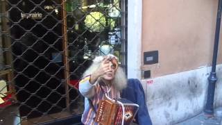BUZ - BIRDMAN PERFORMER OF ROME ITALY THE STREET CLAUDIO MONTUORI IN THE PANTHEON  IN ROME