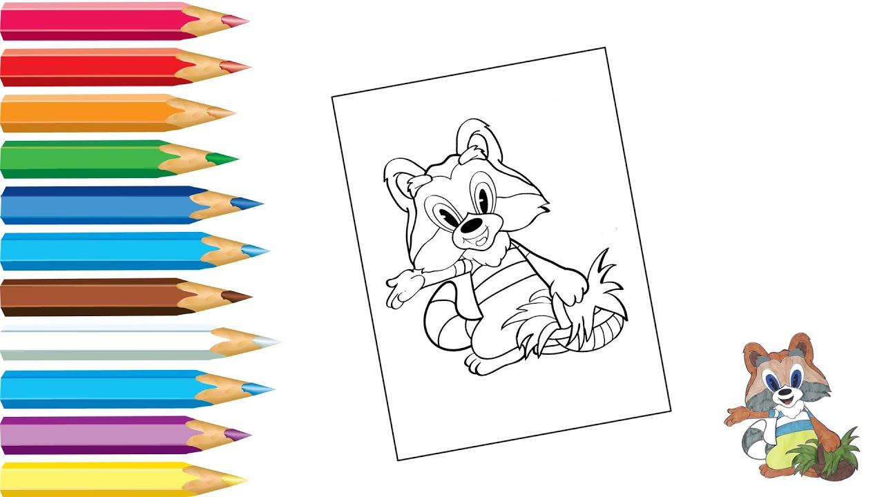 Раскраска Крошка Енот / Coloring Little Raccoon / Как ...