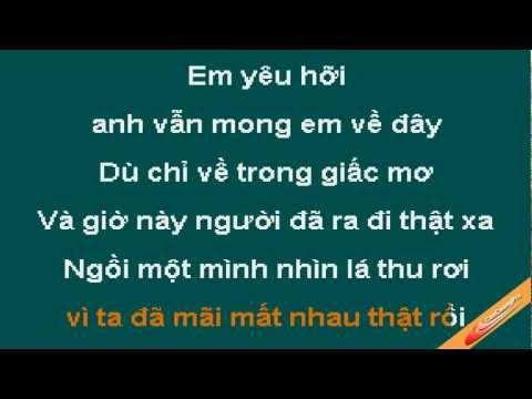 Mong Em Ve Trong Giac Mo Karaoke - MBK - CaoCuongPro